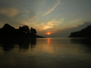 Sunset on Maithon Lake
