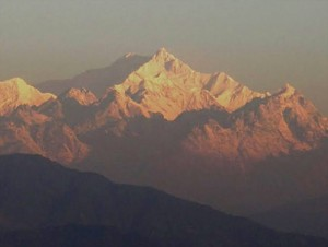 Mt Kanchenjungha from Charkol