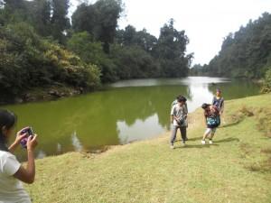 Trekkers beside Mulkarkha Lake